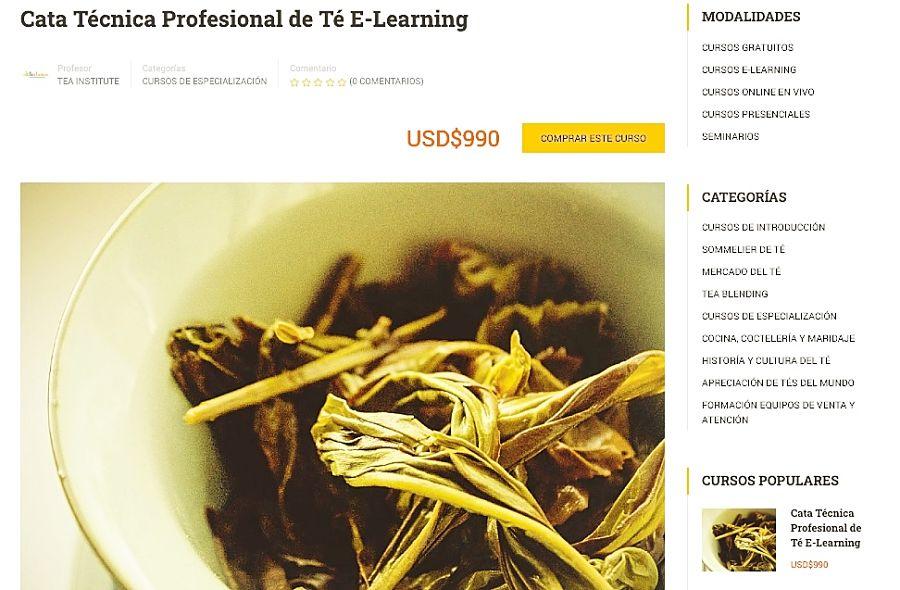 cata de té, tea sommelier, sommelier de té, cata profesional de té